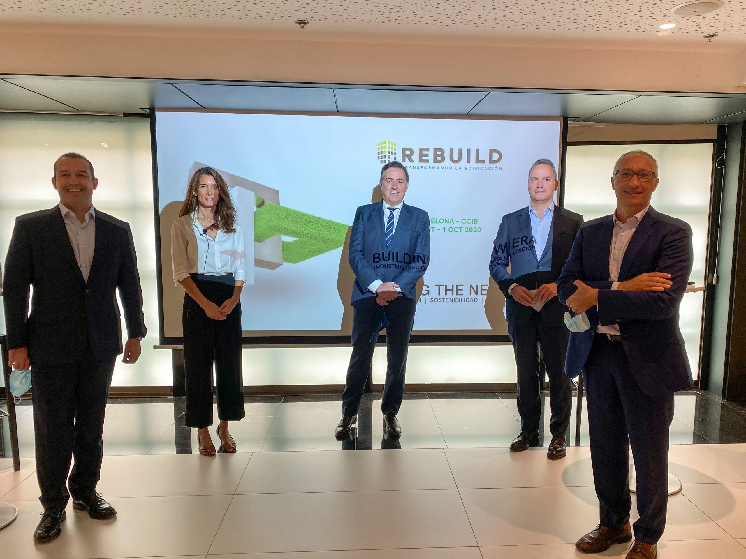 REBUILD 2020, la primera feria y congreso de la Barcelona post-Covid, marcará la hoja de ruta del futuro de la edificación