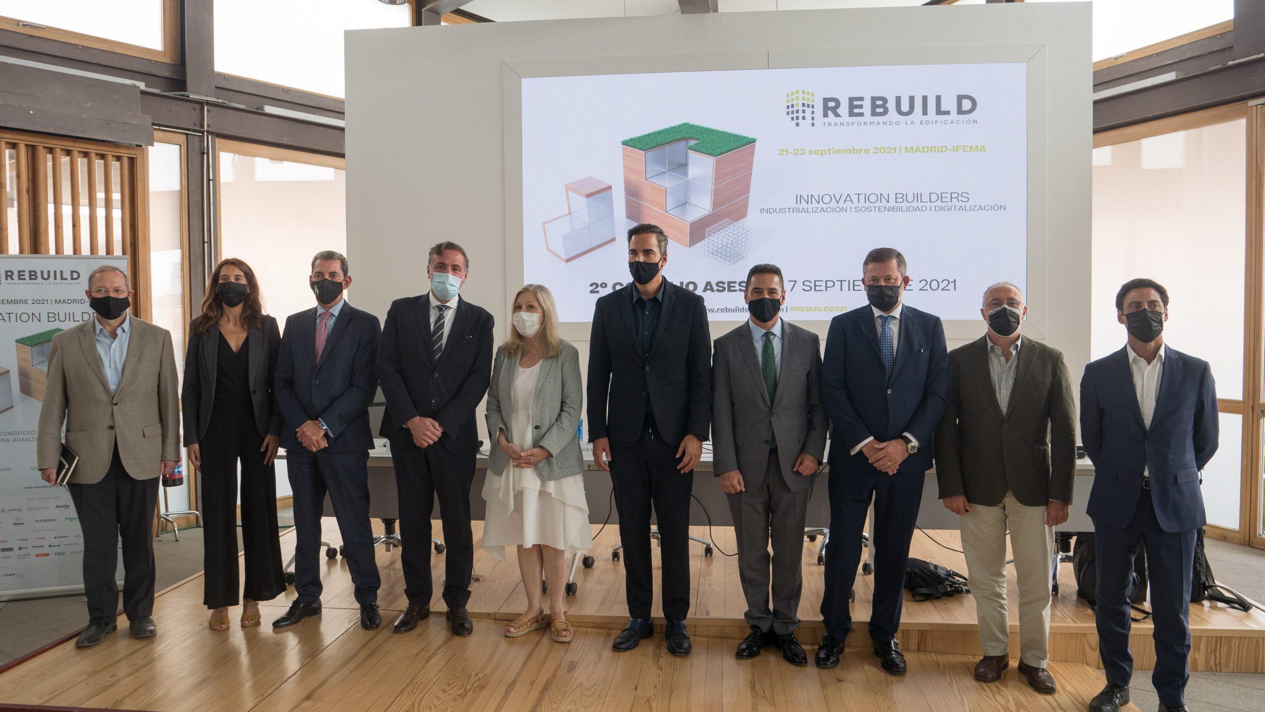 REBUILD 2021 supera todas las expectativas con 280 firmas expositoras y más de 8.000 congresistas previstos